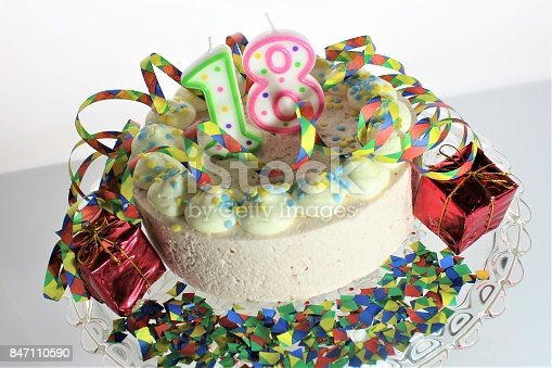 istock An Image of a birthday cake - 18th birthday 847110590
