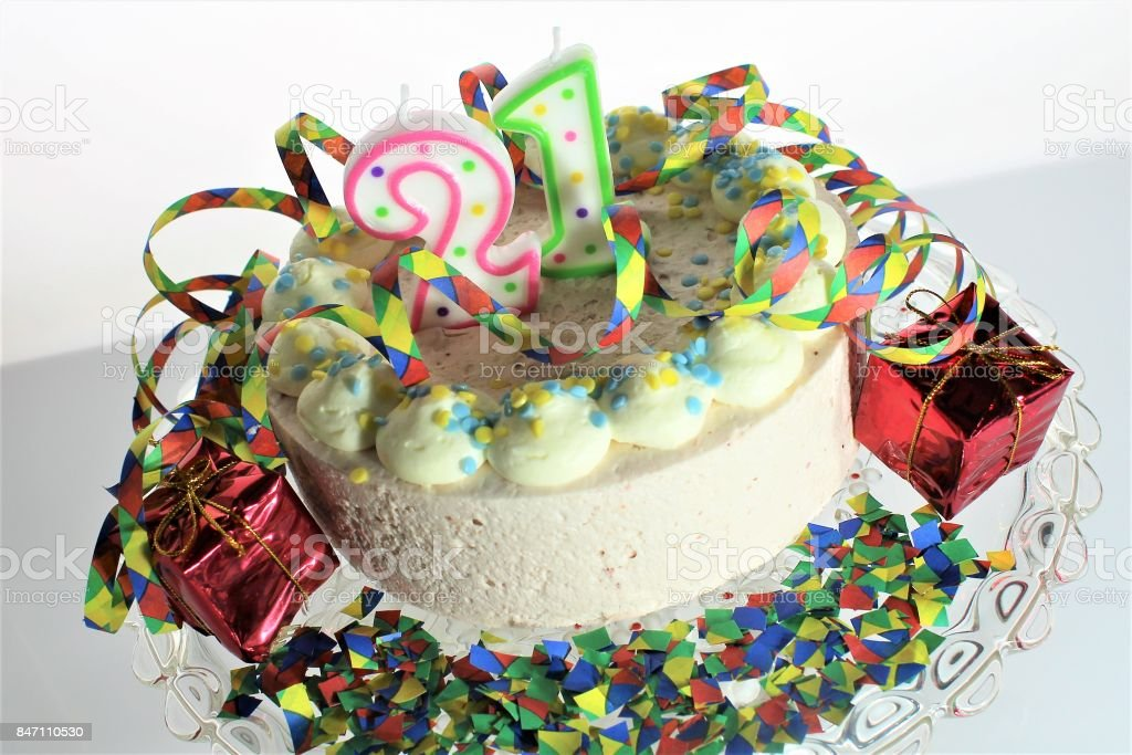 Miraculous An Image Of A Birthday Cake 21St Birthday Stock Photo Download Personalised Birthday Cards Xaembasilily Jamesorg