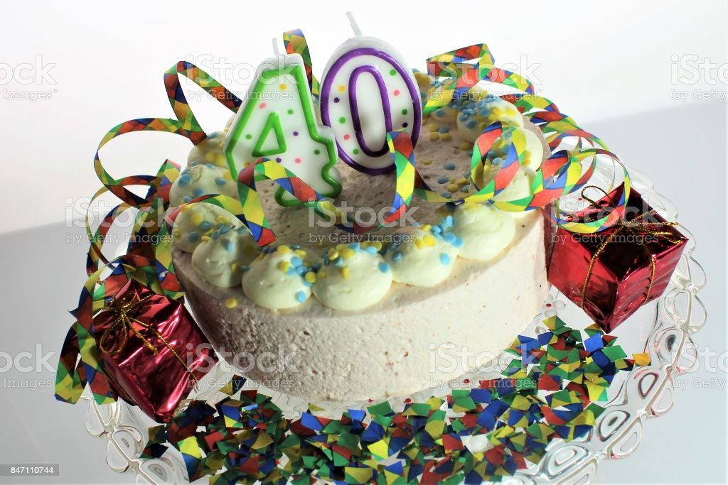 Surprising An Image Of A Birthday Cake 40Th Birthday Stock Photo Download Funny Birthday Cards Online Elaedamsfinfo