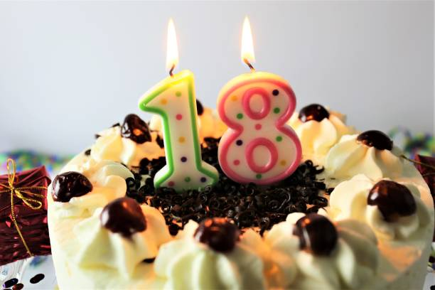 Background Of A 18 Year Old Birthday Cake Pictures Images And Stock Photos