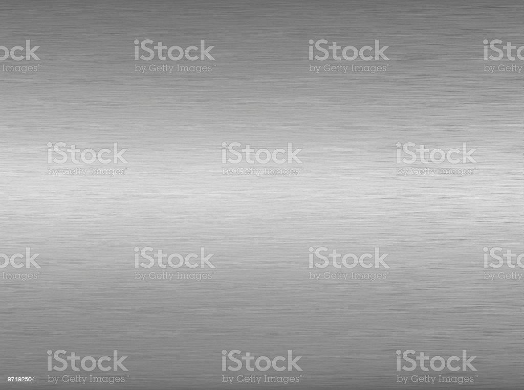 An image of a brushed aluminum background stock photo