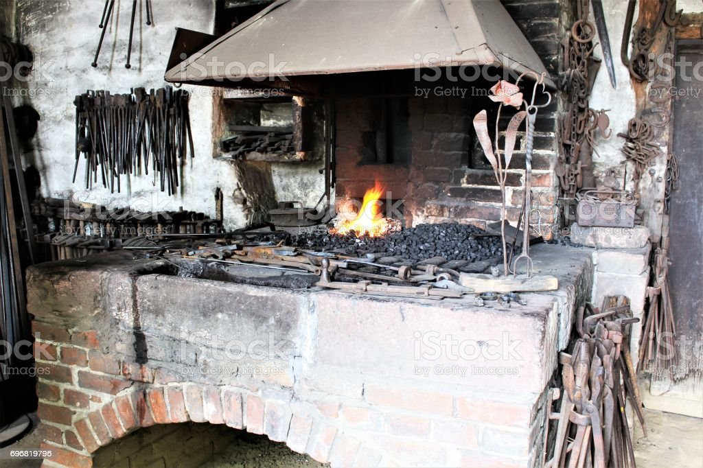 An image of a forging workshop stock photo