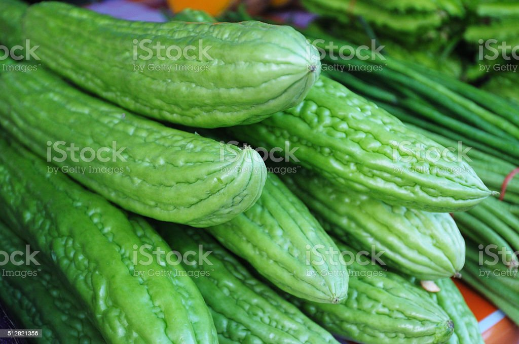 An image of a fresh Bittermelon stock photo