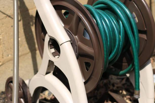 An image of a garden hose stock photo