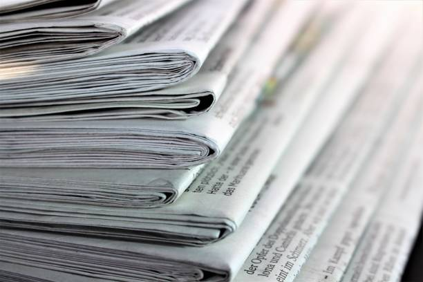 An Image of a newspaper stock photo