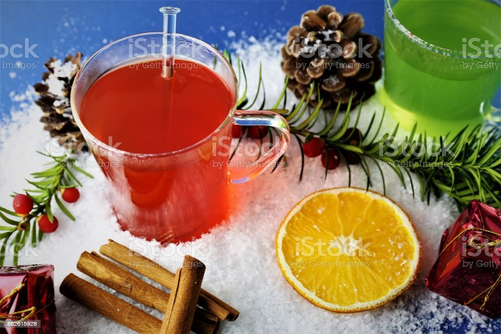 Christmas Drinks Alcohol.An Image Of A Winter Drink Christmas Drinks Stock Photo