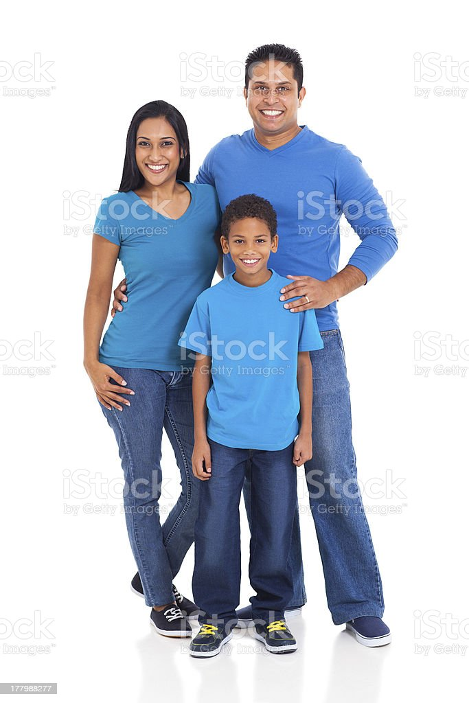 An image of a young Indian family  stock photo