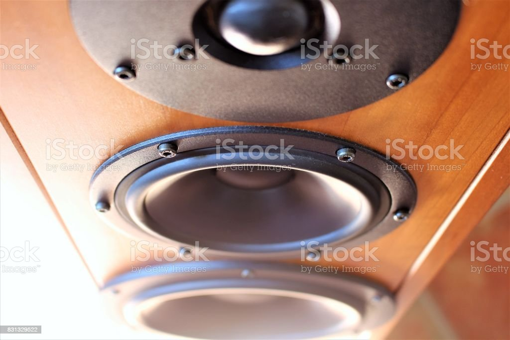 An image of audio sound speaker - music stock photo