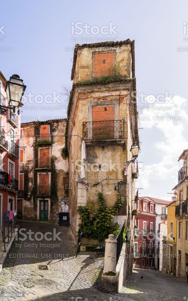 An image of  historic part of  Lisbon,Portugal. stock photo