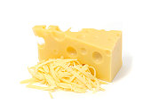 istock An image of Swiss cheese with some grated 119788537