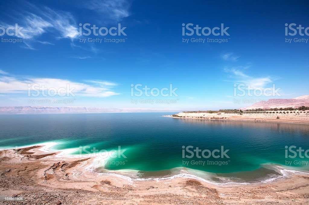 An image of the Dead Sea on a clear day stock photo