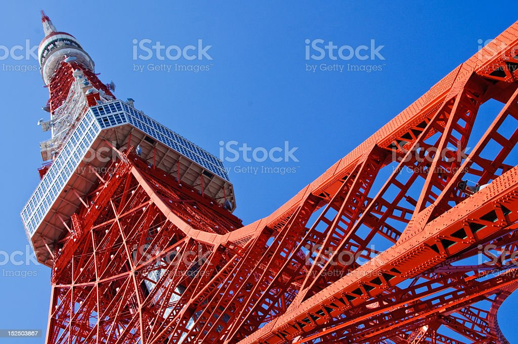 An image of the great red Tokyo Tower stock photo