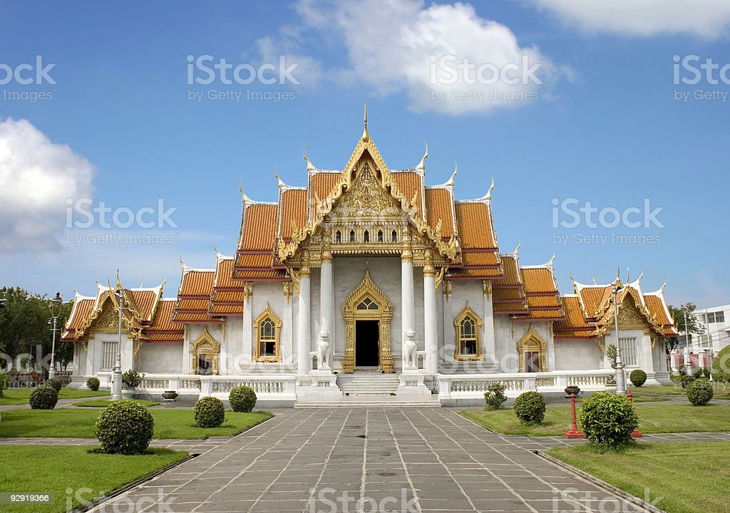 An image of the Marble Temple in Bangkok on a sunny day stock photo