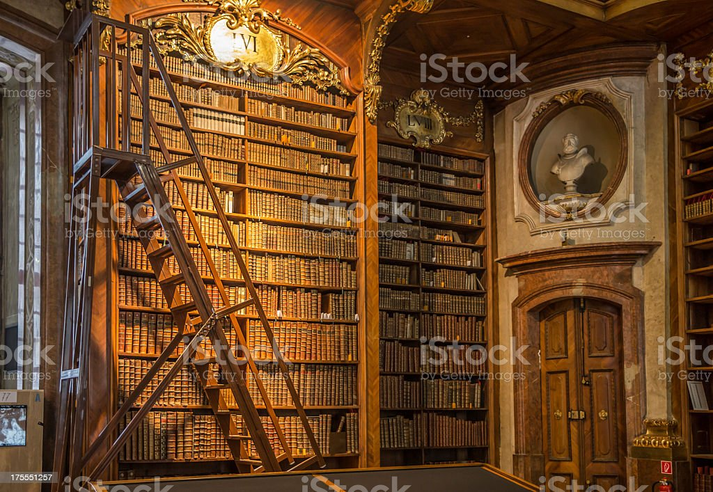 An image of the Vienna State Library stock photo
