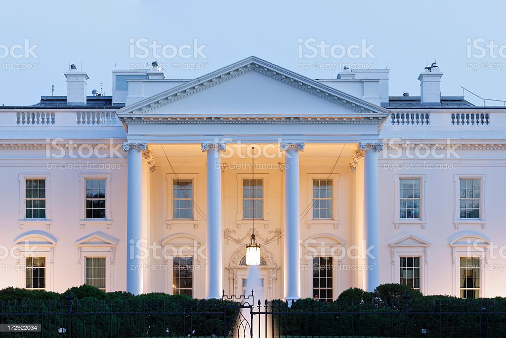 An image of The White House in Washington DC stock photo