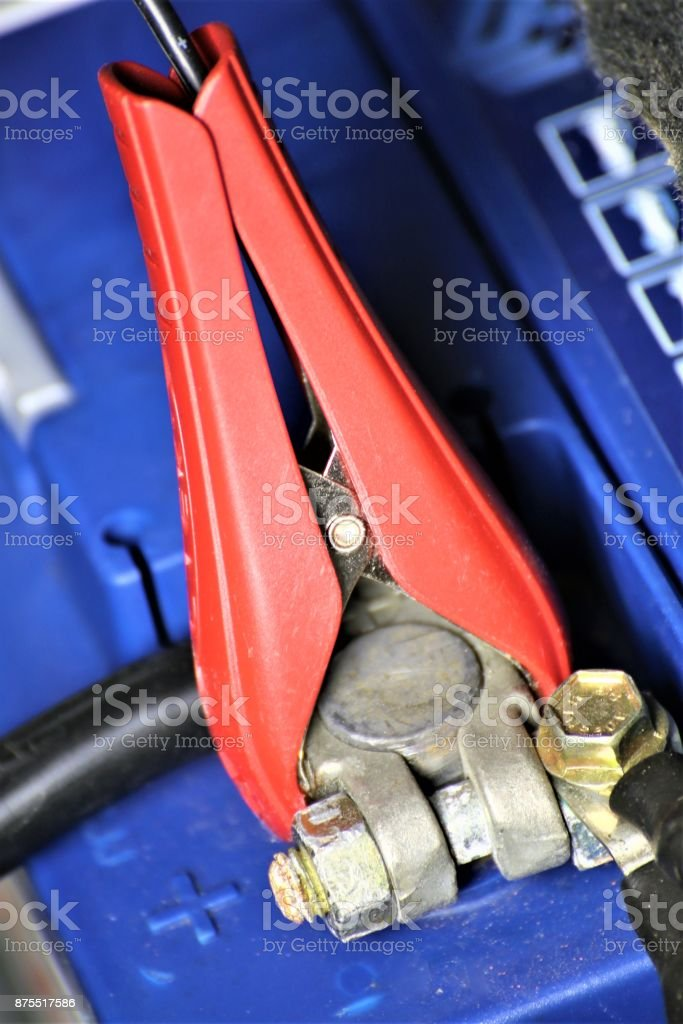 An image to charge the battery stock photo