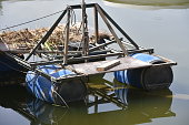 An improvised raft