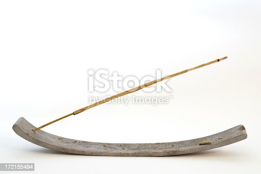 incense stick, white background
