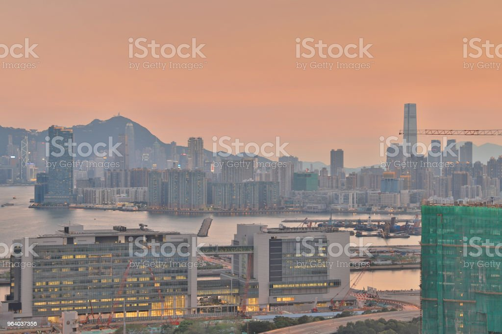 an industry building and a Business Area kowloon - Royalty-free Apartment Stock Photo