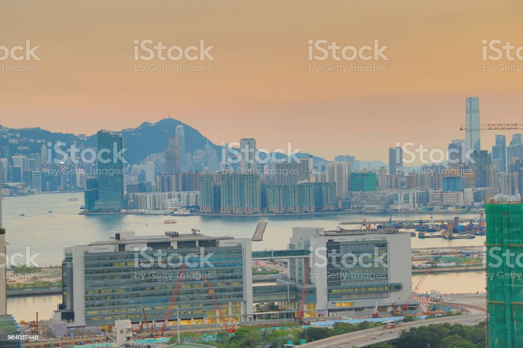 an industry building and a Business Area kowloon - Royalty-free City Stock Photo