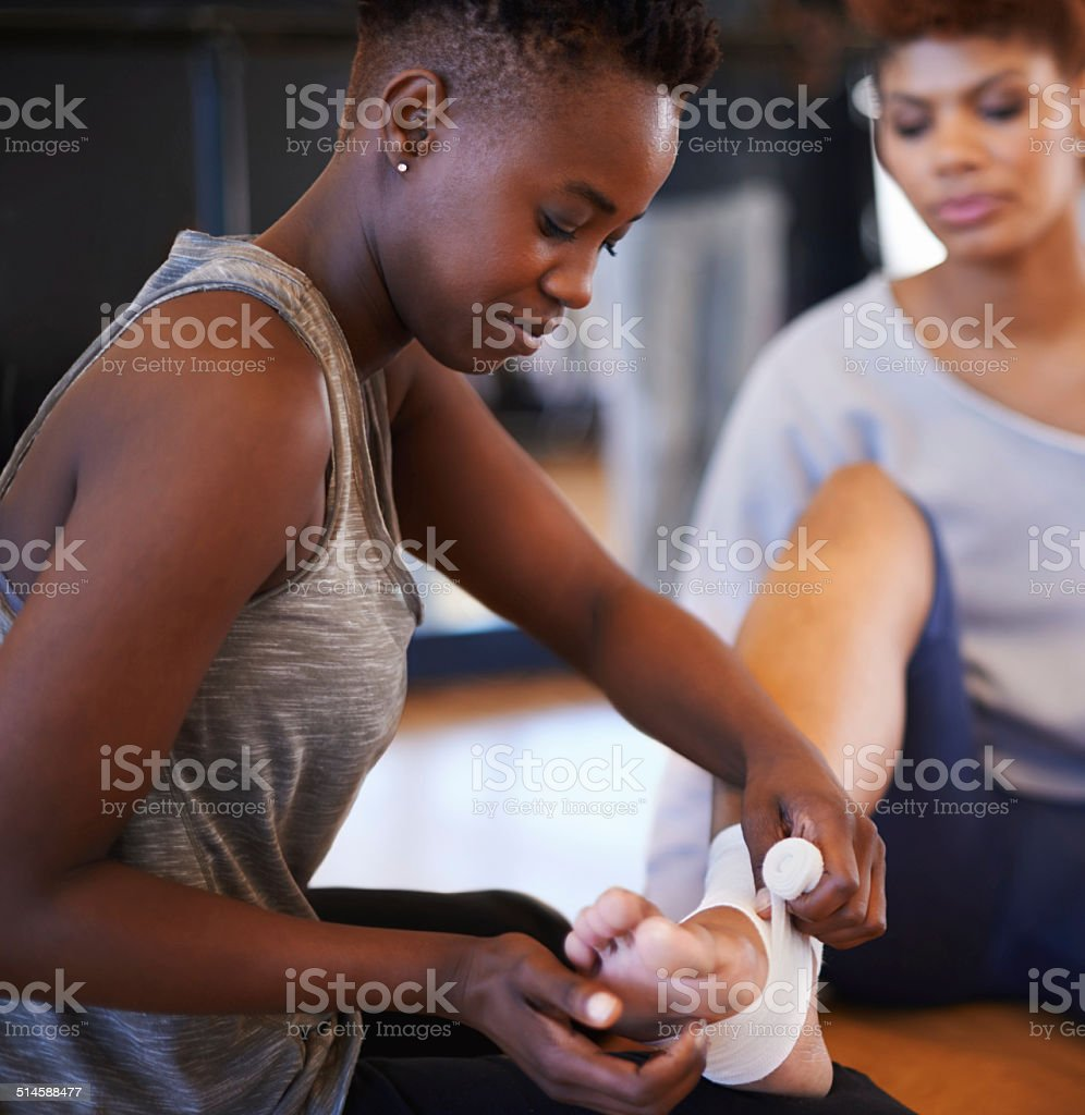 An injured ankle is never good stock photo