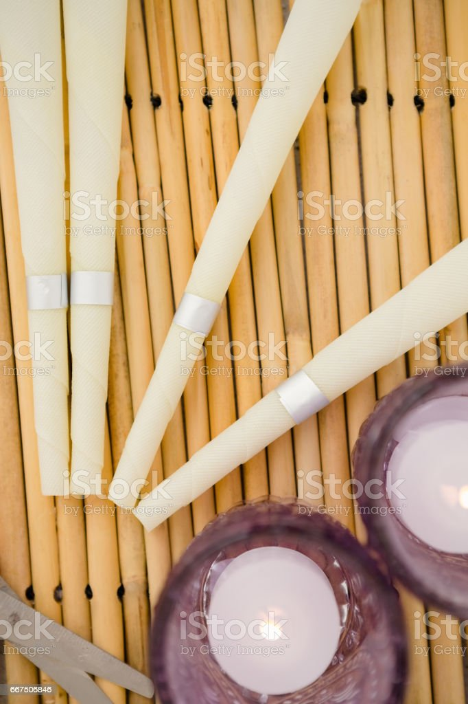 An instruments of spa center foto stock royalty-free