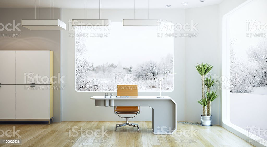 An interior design of a modern office royalty-free stock photo