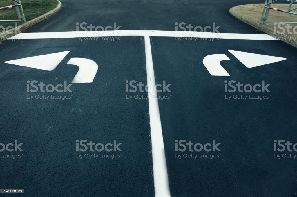 An intersection stock photo