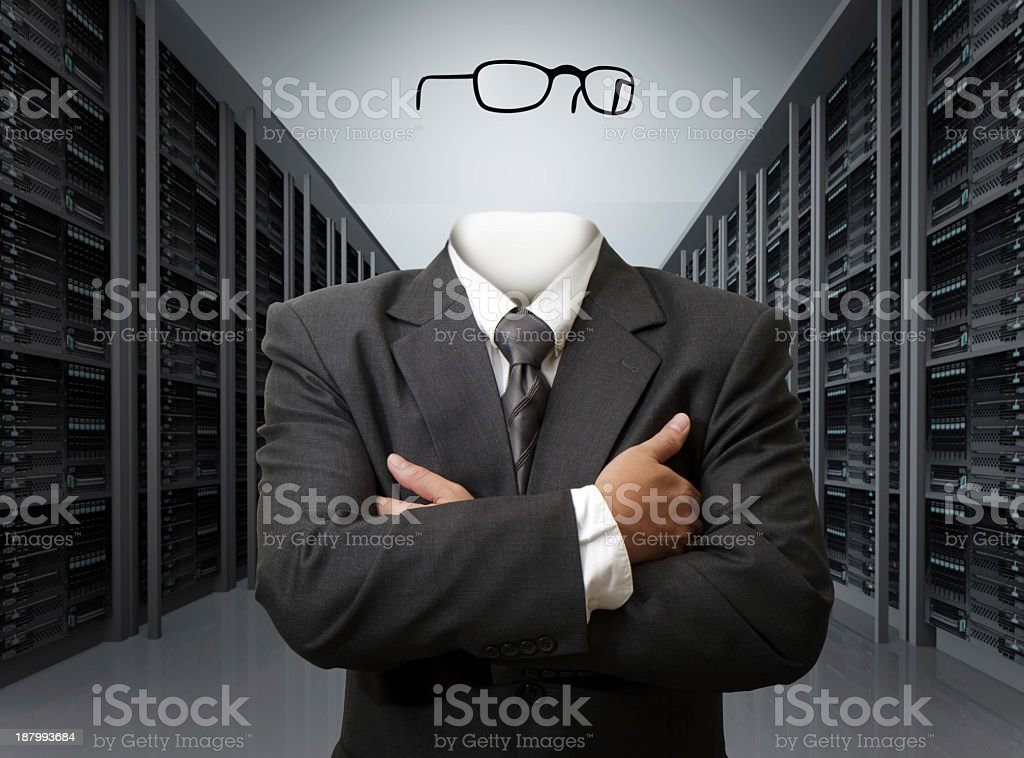 An invisible man concept conveyed stock photo