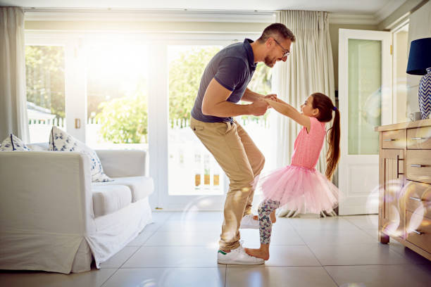 an involved father is an influential father - father and daughter stock photos and pictures