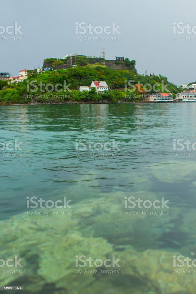 An Island across the Water - Royalty-free Building Exterior Stock Photo