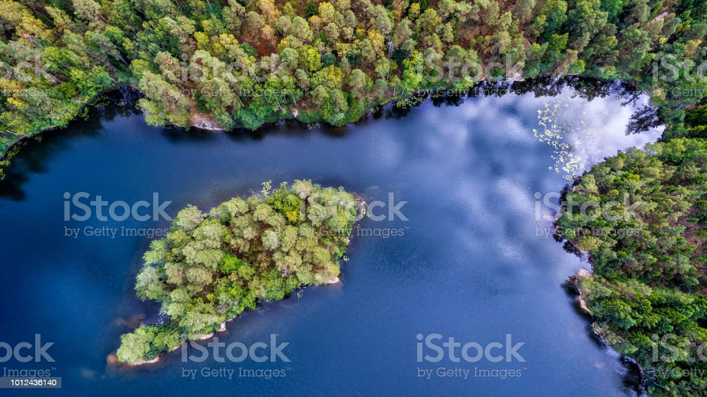 An island stock photo