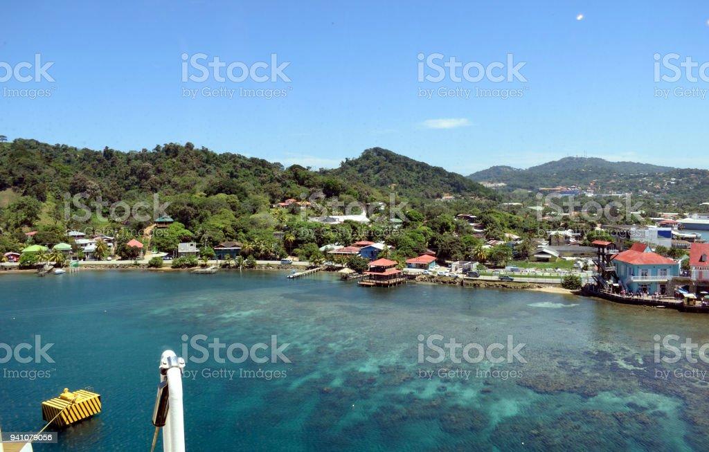 An Island Resort in Honduras stock photo