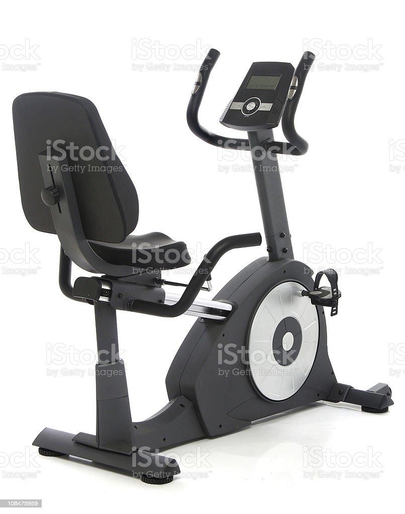 An isolated exercising stationary bike stock photo