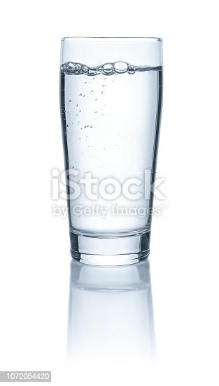 An isolated glass with water