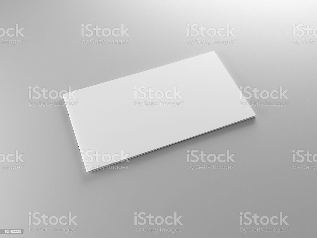An isolated image of an empty piece of paper stock photo