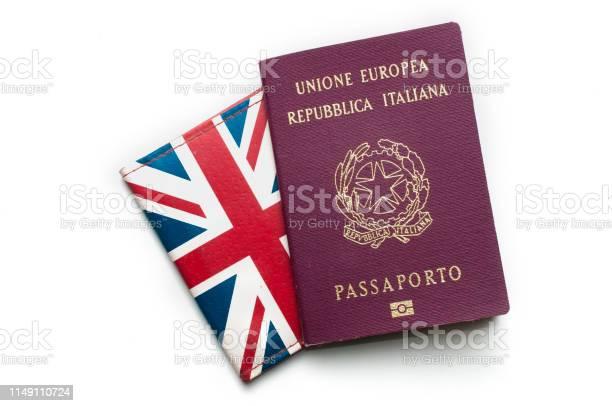 An italian passport on top of a british card holder on white picture id1149110724?b=1&k=6&m=1149110724&s=612x612&h=bmjxdtcdpms8nyz yhoat7c70pxyktnzkcgl9sfgfxc=