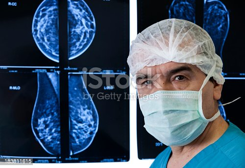istock An MRI scan being reviewed by a doctor 183811615