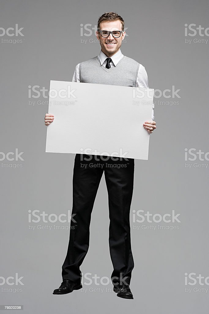 An office worker jumping stock photo