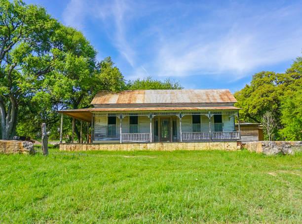 An old abandoned Farm House stock photo