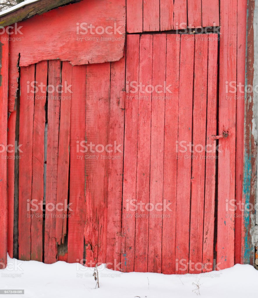 An old abandoned house. Non-residential premises stock photo