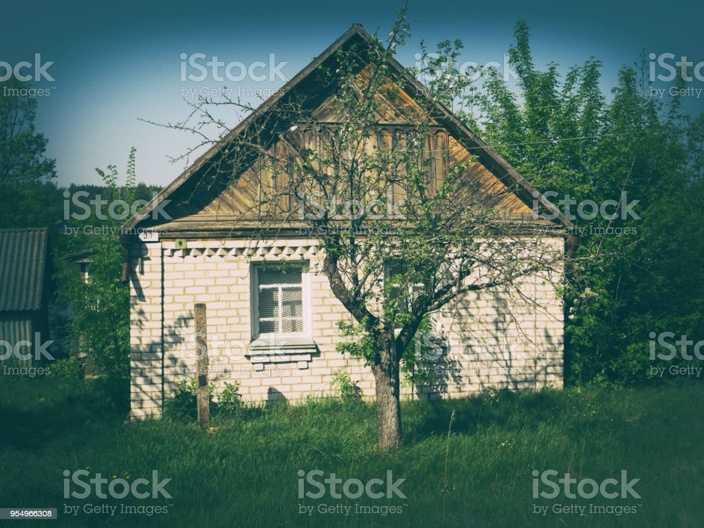 An old abandoned house. stock photo