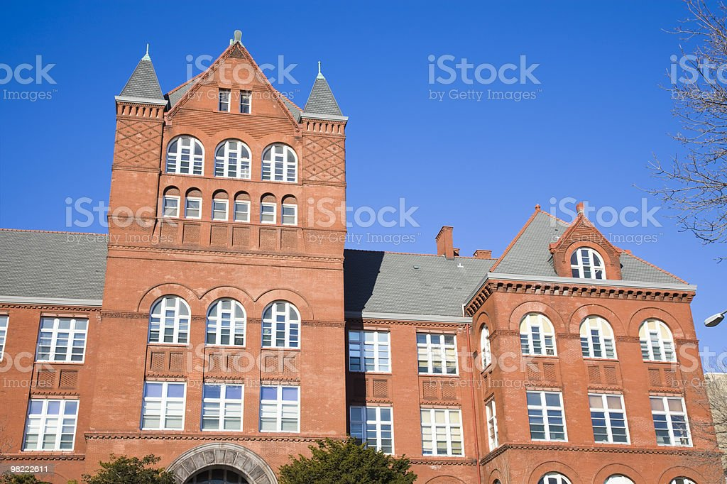 An old and historic cathedral in Madison royalty-free stock photo