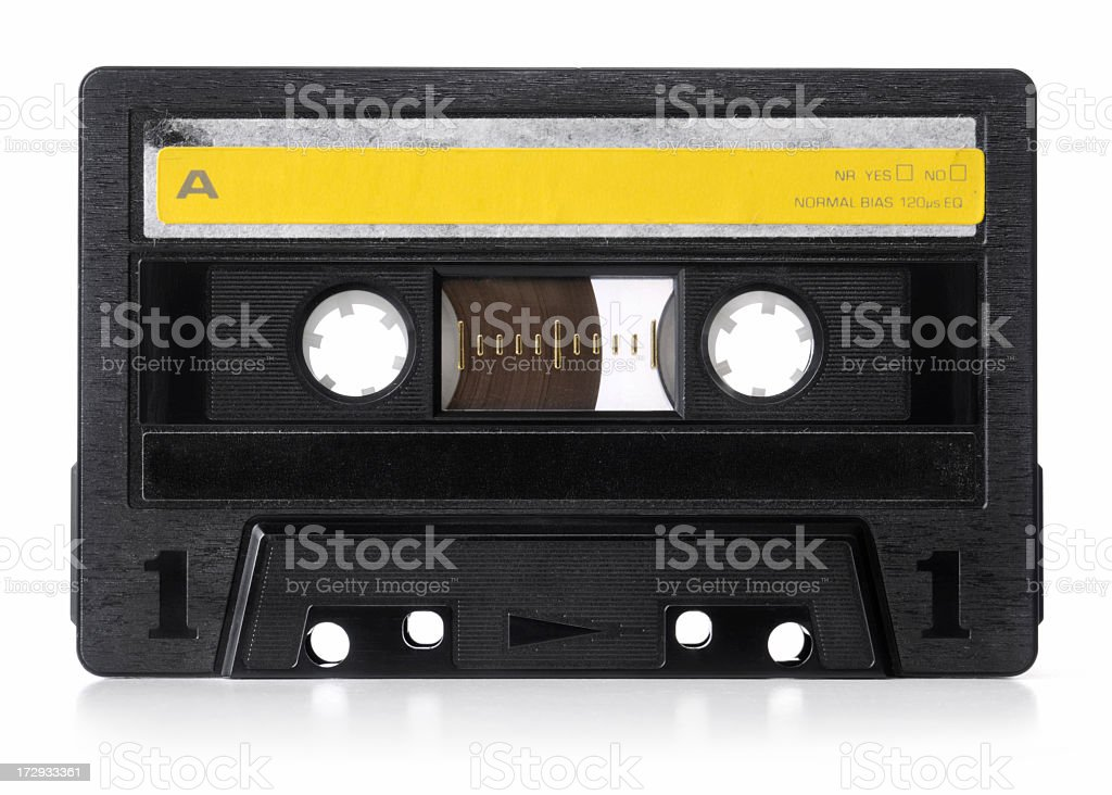 An old audio cassette used back in the 90s stock photo