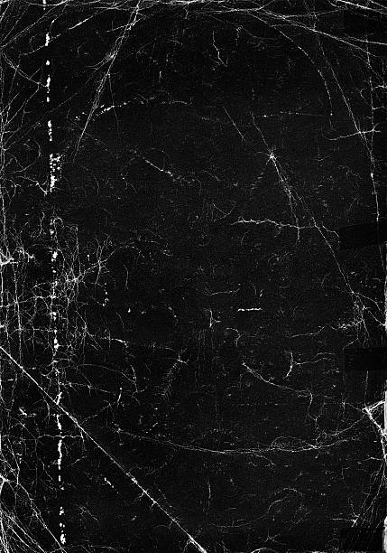 an old black paper texture background - bildskadeeffekt bildbanksfoton och bilder