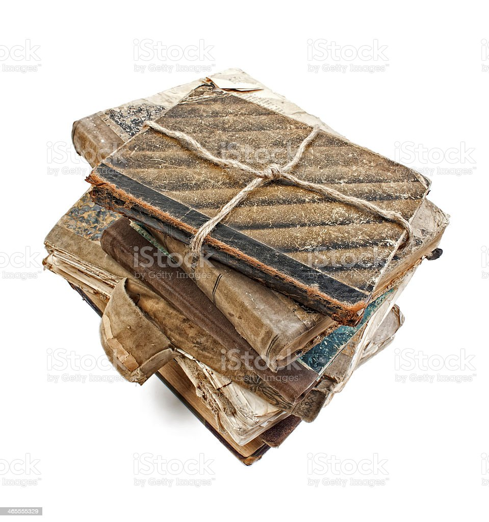 An old book with a crumpled sheet royalty-free stock photo