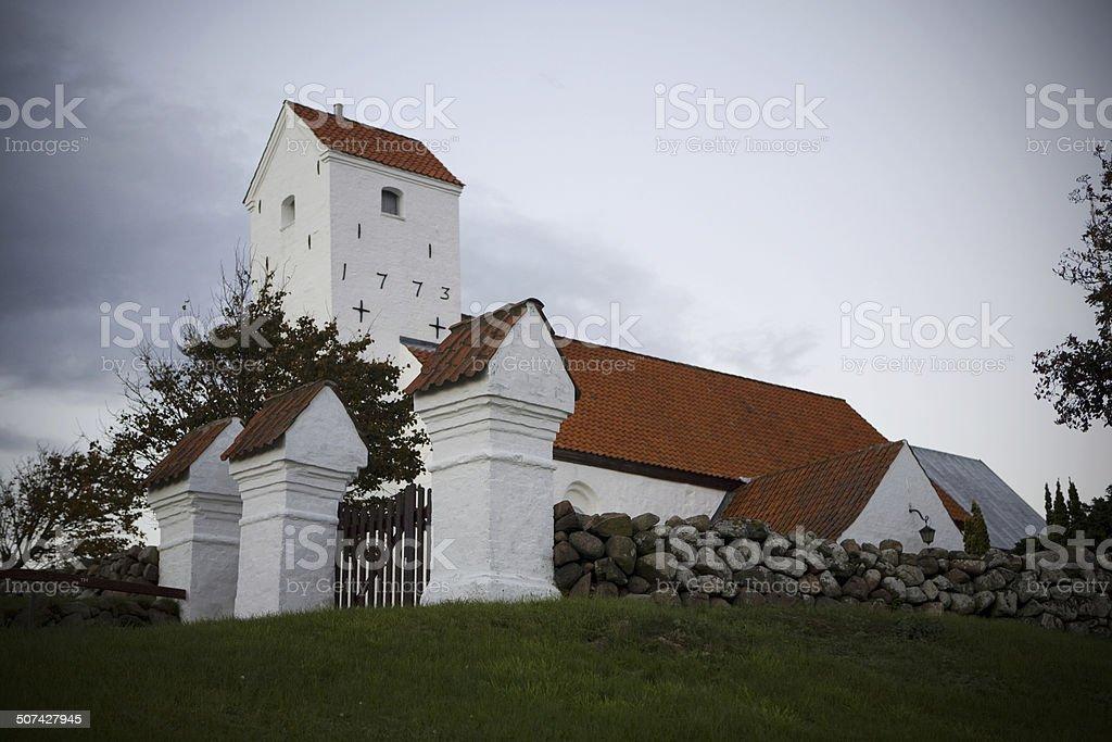 An old Danish Church North of Denmark. stock photo