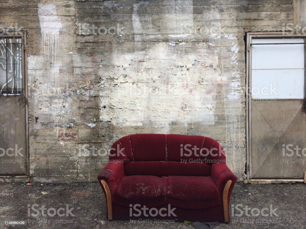 Sofa, Chair, Copy Space, No People , Furniture, Street, Outdoors,...
