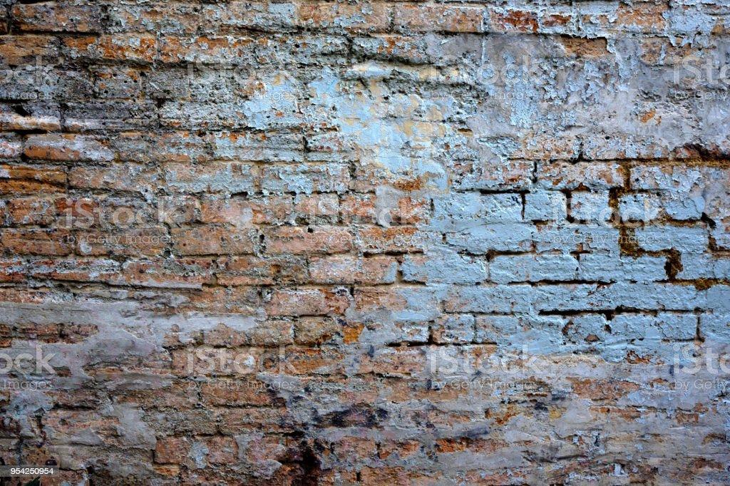 Photo Libre De Droit De Un Vieux Mur De Brique Extérieur