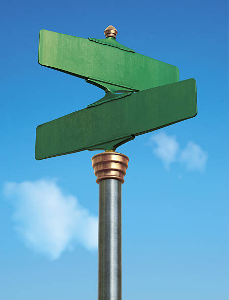 An old fashioned green American street sign stock photo